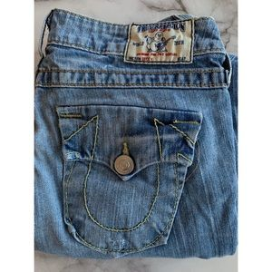 Size 27 True Religion Light Wash Becky Jeans